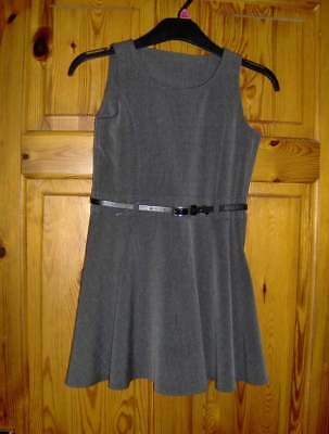 BACK TO SCHOOL! GREY PINAFORE or BLACK SKIRT  _ AGES 3/4 - 9/10 YRS