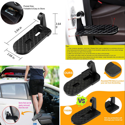 Car Doorstep Folding Ladder Foot Pedals Easy Access to Car Rooftop/Safety Hammer