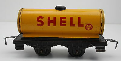 Spur 0 Kesselwagen SHELL Blech Lithographie Germany US Zone verm. Bub
