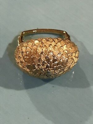 VTG VENDOME Pat 2,961,855 Gold Tone Modernist Adjustable Ring 5.5 to 6.5