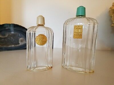 Two art deco vintage Coty perfume bottles: L'Aimant and L'Origan