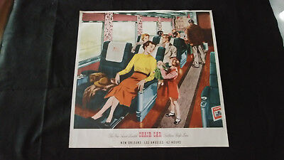 "Large Southern Pacific Railroad Sunset Limited ""chair Car"" Poster"