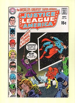 Justice League of America #80  -- JLA - Batman crying!?!  -- --  7.5  VF-  cond.