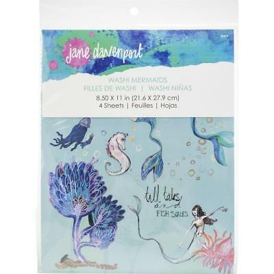 Jane Davenport Washi Pages - Mermaids - 4 Sheets