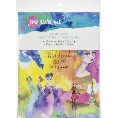 Jane Davenport Washi Pages - Girls - 4 Sheets