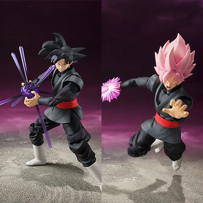 Dragon Ball Super S.h Figuarts Goku Gokou Black Rose Pvc Figure