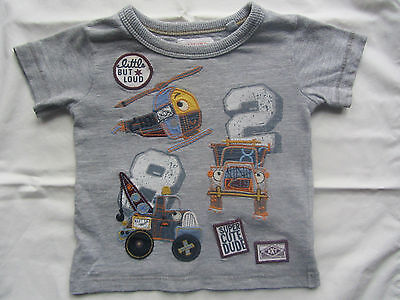 NEXT DENIM & CO Baby Super Cute Dude Helicopter Embroidered T Shirt 3 - 6 Mths