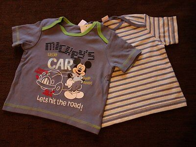 Boys' 2 Pack T-Shirts Mickey Mouse Disney 6-9 Months New with tags