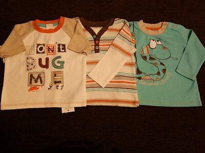 Boys' 3 Pack George Tops T-Shirt 6-9 Months New with Tags