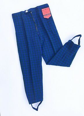 VTG Child French 60s 70s NOS Deadstock Wholesale Blue Jodhpurs Trousers 3-4 Y