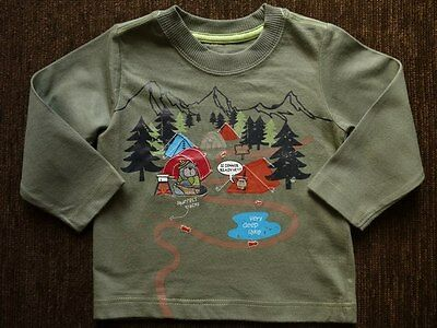 Boys' Mothercare Green Camping Top 9-12 Months Brand New