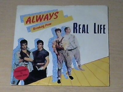 "7"" REAL LIFE * Always (MINT-) RED VINYL"