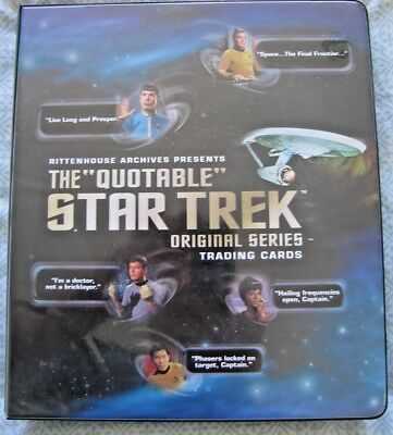 Star Trek Binder The quotable, plus card sets , Promos etc...