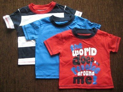 Boys' 3 Pack Cotton T-shirts George 6-9 Months NEW WITH TAGS