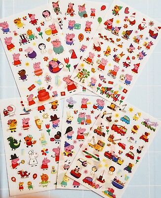 Peppa Wutz Sticker Aufkleber Peppa Pig stickers 6 Folien