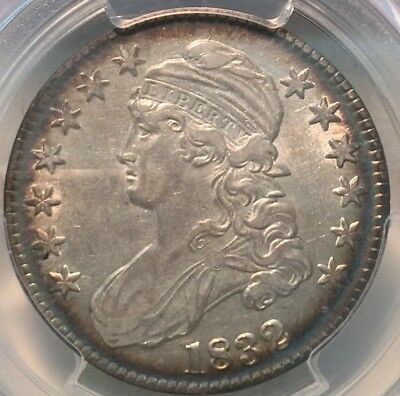 1832 50C Small Letters Capped Bust Half Dollar AU 53 PCGS