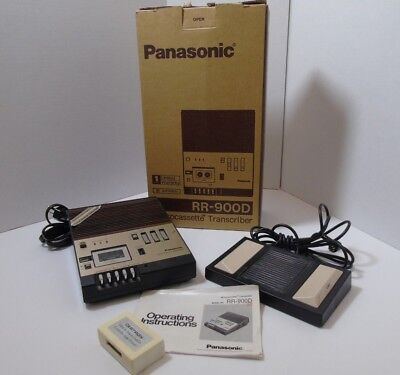 Panasonic Microcassette Transcriber Model RR-900D with RP-2691 Foot Pedal System