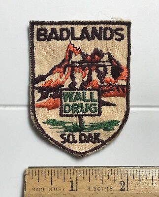 Wall Drug South Dakota Badlands National Park SD Souvenir Embroidered Patch