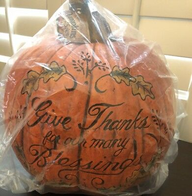 Salem Collection Large Carved Pumpkin