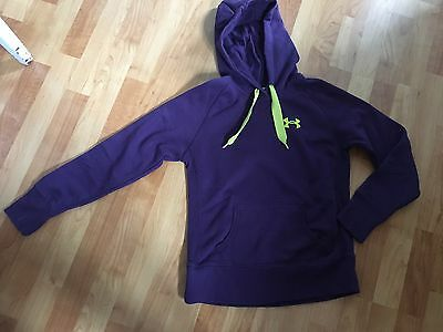 Under Armour Storm Ladies XS Hooded Sweatshirt Purple & Lime Green Extra Small