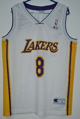 bb61da8272f Rare Nba Los Angeles Lakers #8 Bryant Champion Basketball Shirt Jersey Size  L