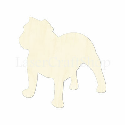 Shih Tzu Dog Wooden Wood Cutout Shape Silhouette Tags Ornaments Laser Cut #1325