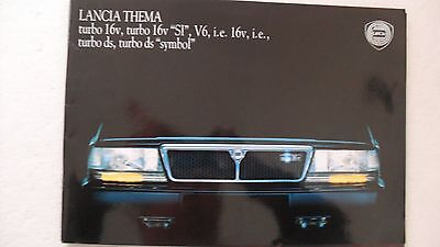 LANCIA THEMA BROCHURE  CATALOGUE 08.1991 40 PAGES & info technique tous types