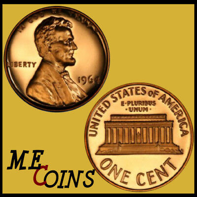 1964 Proof Lincoln Memorial Cent Penny, GEM , FREE SHIPPING!
