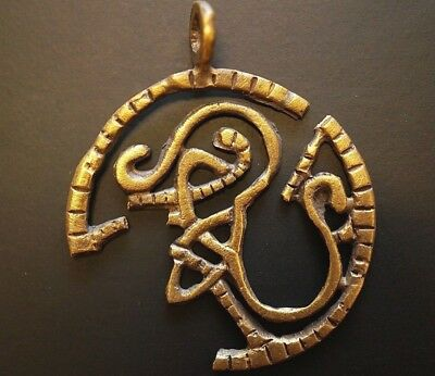 Ancient Viking Solid Gold Amulet. Openwork Pendant of Norse Knot, 950-1000 Ad