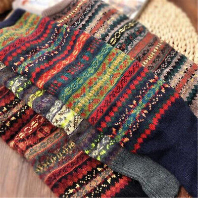 Boho Women Winter Warm Leg Warmers Knitted Crochet High Knee Long Socks Leggings