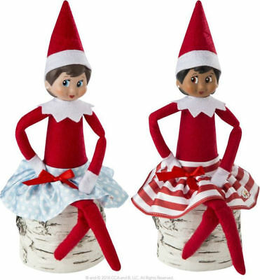 Elf On The Shelf Claus Couture Twirling In The Snow Skirts Novelty, Red/blue/
