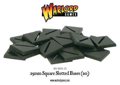 Warlord Games: Square Slotted Bases (25mm x 25mm)