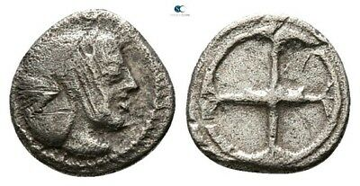 Savoca Coins Sicily Syracuse Litra Arethusa Silver 0,54g/8mm $KBP456