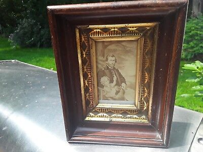 Vintage Antique Ulysses S Grant in Peace photo .In antique wood Frame 1800