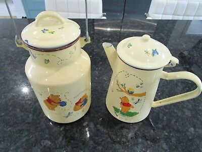 DISNEY WINNIE THE POOH COFFEE POT AND MILK CHURN  COLLECTABLES  Disneyland Paris