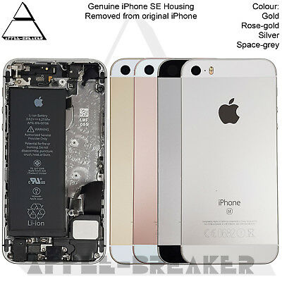 Genuine Apple iPhone SE REAR BACK CHASSIS HOUSING WITH PARTS- GRADE A
