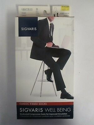 Sigvaris Well Being Classic Ribbed Socks Size B Khaki - Rc 6307