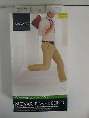 Sigvaris Well Being Cushioned Cotton Socks Size C Black - Rc 6297