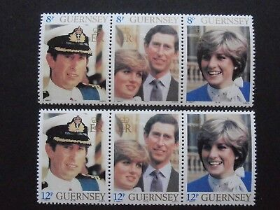 GB Guernsey Charles and Diana Engagement MNH