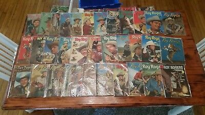 Lot of 33 Roy Rogers Comics 1940s 50s Golden Age Assorted Fair Good Condition