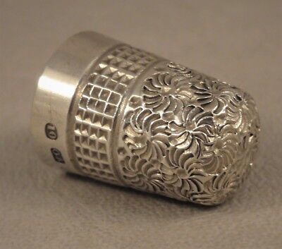 Antique Silver Thimble Olney Amsden & Sons Birmingham 1908
