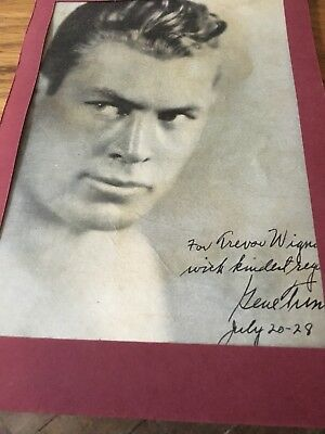 Gene Tunney Autographed Print