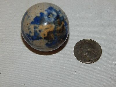 "Rare - Very Large Shooter Toy Marble /blue Colors..1 1/2"" Tall By 5 1/8"" Around"