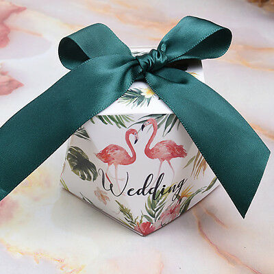 10x Multi-Colors Polygon Foiled Wedding Favor Box Party Favour Gift Can Box LH