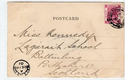 HONG KONG: 1901 picture postcard to Scotland with VICTORIA postmark (C37534)