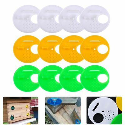 12pcs 3 Colors Beekeepers Beehive Box Entrance Gates 68mm Beekeeping Tools E fpy