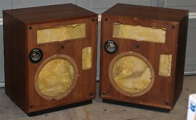 Altec Lansing Model Fifteen 15 Empty Vintage Speaker Cabinets w/ frames