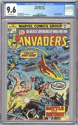 Invaders #1 - Cgc 9.6 Ow Nm+  Captain America Sub-Mariner Human Torch
