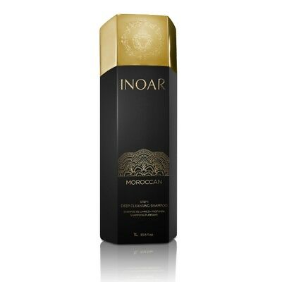Inoar Moroccan Brazilian Blow Dry Deep Cleansing Shampoo - Step 1 - 1 Litre