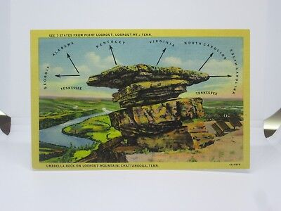 Vintage Postcard of Umbrella Rock, Lookout Mountain, Chattanooga, Tennessee TN